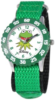 Muppets Kermit Kids Time Teacher Green Watch
