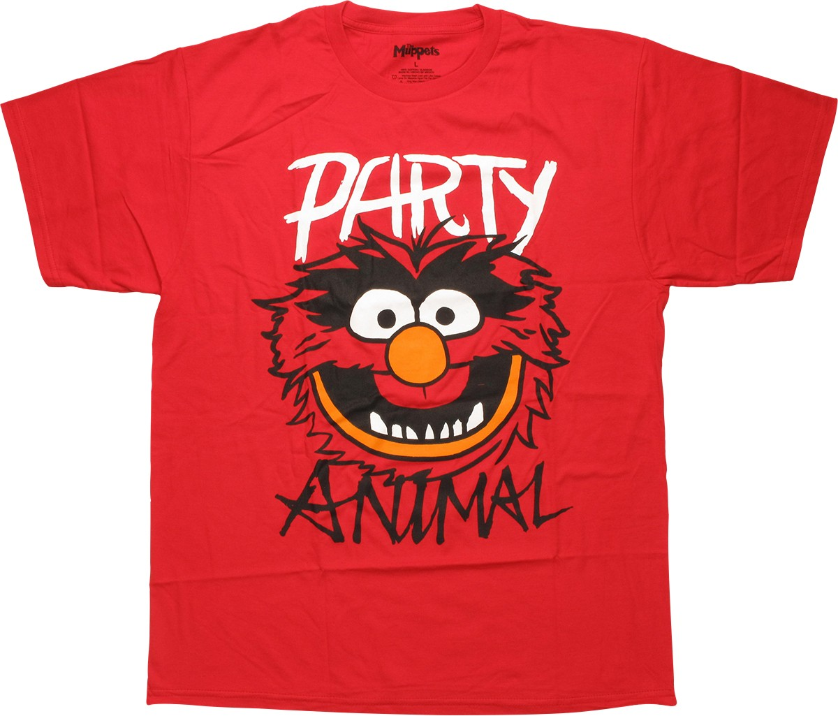 Muppets party animal red t shirt for Animal tee shirts online