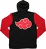 Naruto Akatsuki Cloud Black and Red Hoodie