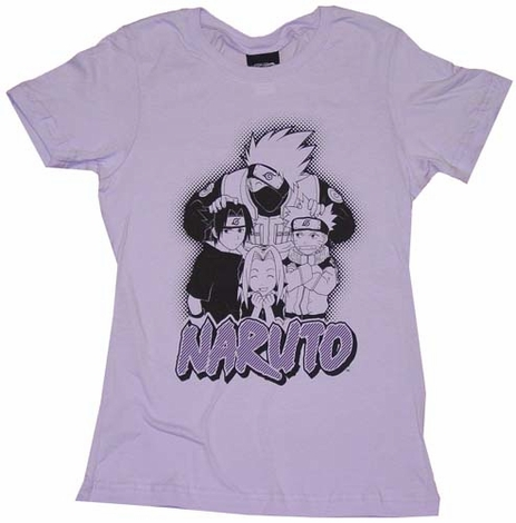 Naruto Quad Group Juniors T-Shirt