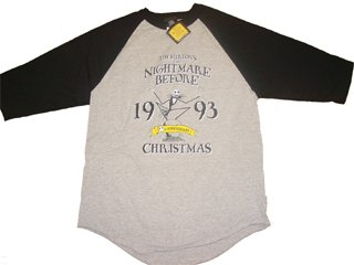 Nightmare Before Christmas Anniversary Raglan T-Shirt