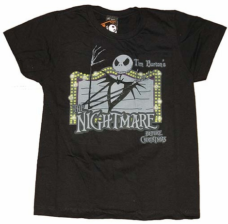 Nightmare Before Christmas Marquee Juniors Shirt