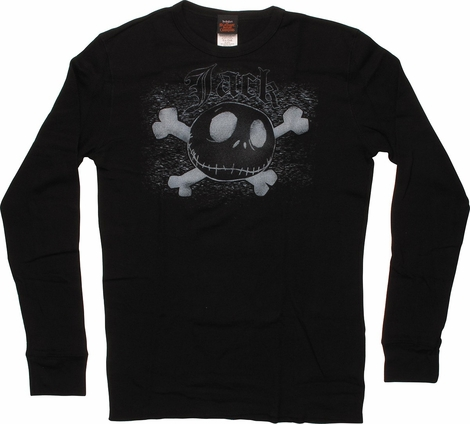 Nightmare Before Christmas Jack Bones Thermal Long Sleeve T-Shirt