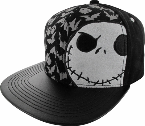 Nightmare Before Christmas Jack Felt Face Hat