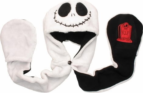 Nightmare Before Christmas Jack Furry Snood Beanie