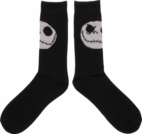 nightmare before christmas jack head crew socks