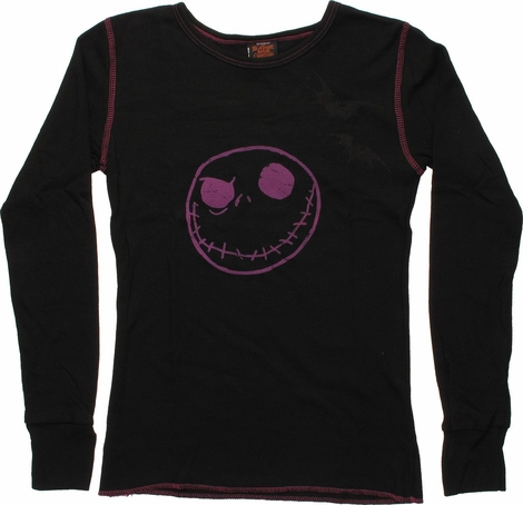 Nightmare Before Christmas Jack Long Sleeve Baby Tee
