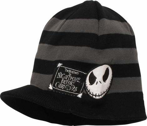 Nightmare Before Christmas Jack Patch Visor Beanie