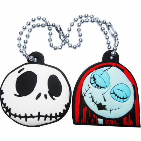 Before Christmas Jack Sally Key Cap Keychain Set