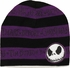 Nightmare Before Christmas Purple Striped Reversible Beanie