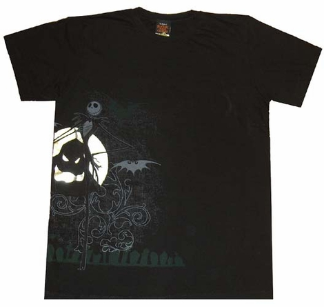 Nightmare Before Christmas Side Moon T-Shirt Sheer
