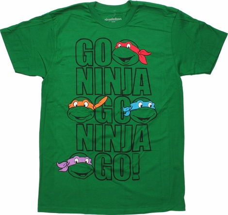 Ninja Turtles Go Ninja Outlines T-Shirt