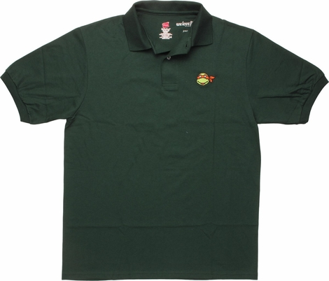 Ninja Turtles Michelangelo Face Polo Shirt