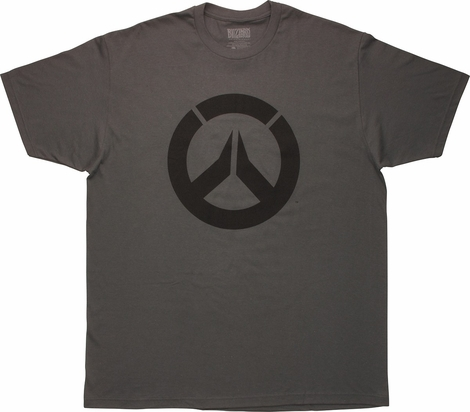 Overwatch Black Logo Icon Gray T-Shirt