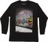 Pacman Ghost Chase Graffiti Wall LS Youth T-Shirt