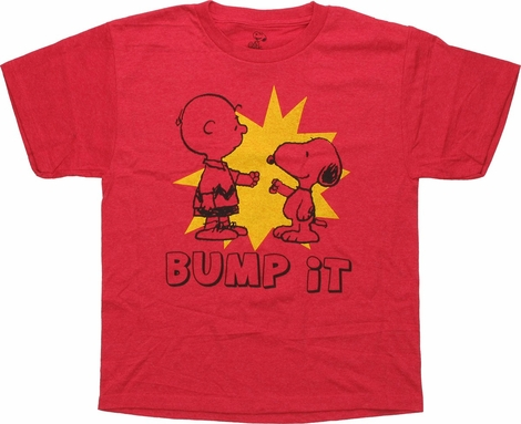Peanuts Charlie and Snoopy Bump It Youth T-Shirt