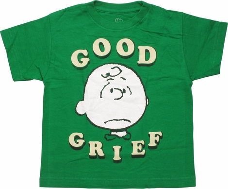 Peanuts Charlie Brown Good Grief Juvenile T-Shirt