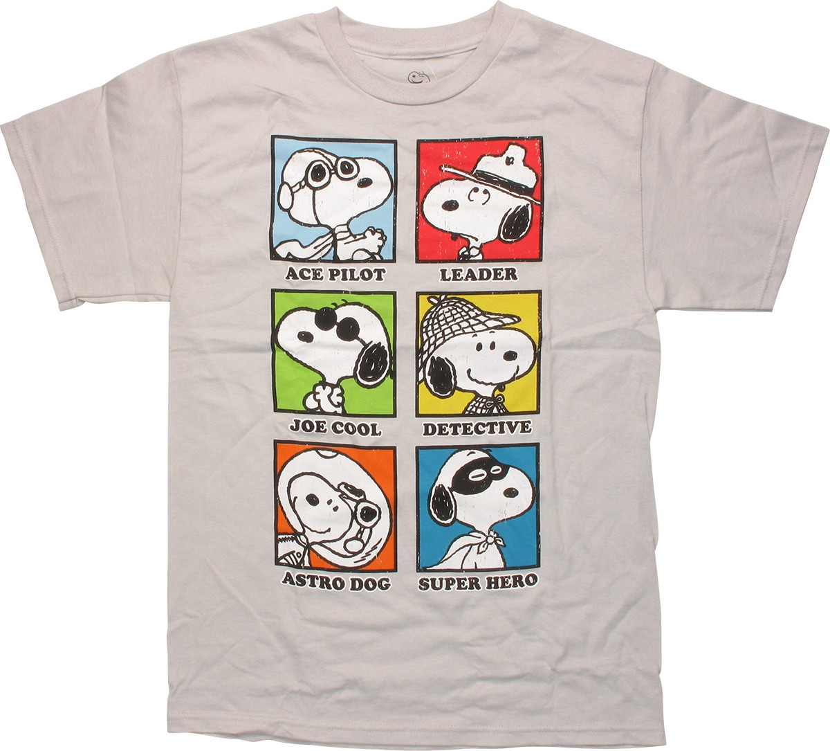 peanuts snoopy career squares t shirt. Black Bedroom Furniture Sets. Home Design Ideas