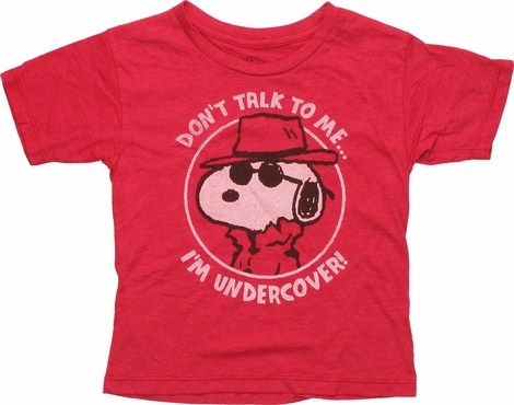 Peanuts Snoopy I'm Undercover Toddler T-Shirt