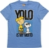 Peanuts YOLO is My Motto Blue Youth T-Shirt