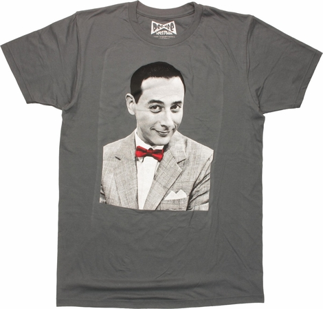 Pee-Wee Herman Portrait Red Bow T-Shirt