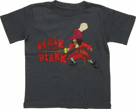 Peter Pan Walk the Plank Navy Toddler T-Shirt