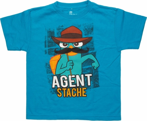 Phineas and Ferb Agent Stache Youth T-Shirt
