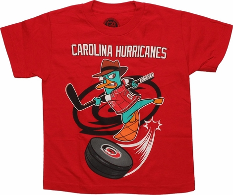 Phineas and Ferb Carolina Hurricanes Swoosh Juvenile T Shirt