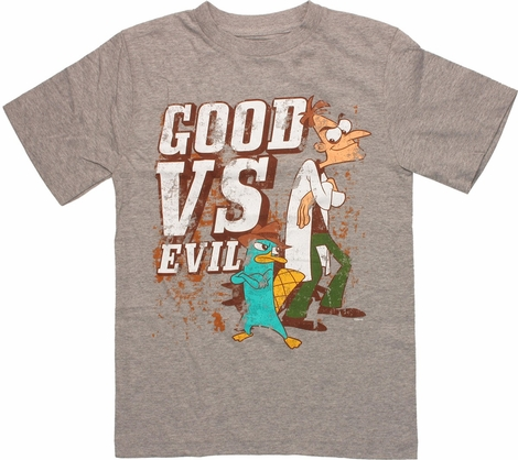 Phineas and Ferb Good vs Evil Youth T-Shirt