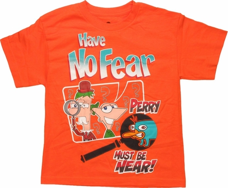 Phineas and Ferb Have No Fear Perry Youth T-Shirt