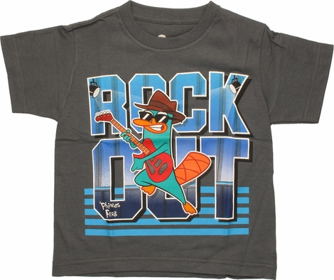 Phineas and Ferb Perry Rock Out Juvenile T-Shirt
