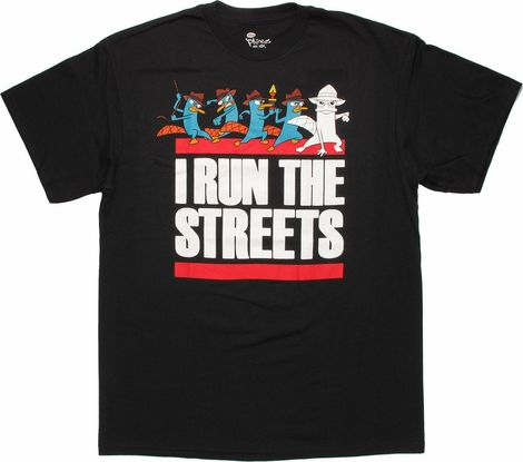 Phineas and Ferb Perry Run Streets T Shirt