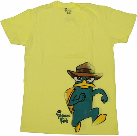 Phineas and Ferb Run T Shirt Sheer