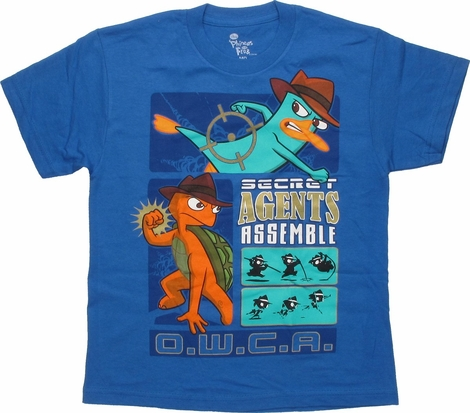 Phineas and Ferb Secret Agents OWCA Youth T-Shirt