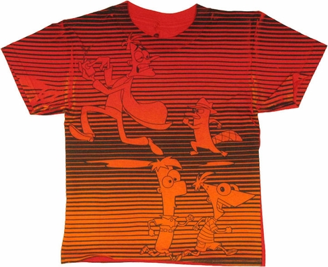 Phineas and Ferb Stripes Juvenile T Shirt