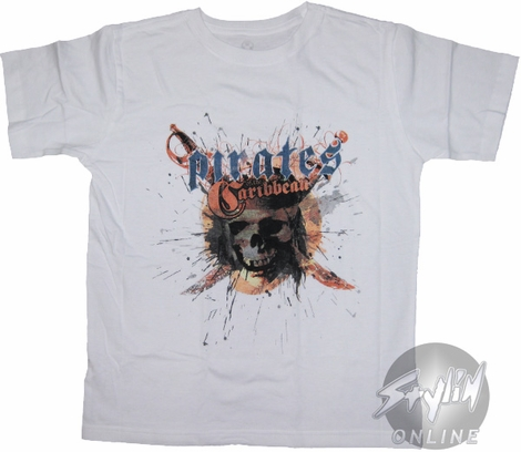 Pirates of the Caribbean Spatter Youth T-Shirt