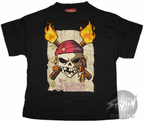 Pirates of the Caribbean Torches Juvenile T-Shirt