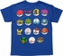 Pokemon Fifteen Type Poke Balls Youth T-Shirt