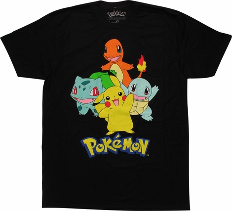 Pokemon First Gen Starter Group T-Shirt