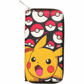 Pokemon Pikachu and Balls Zip Clutch Wallet