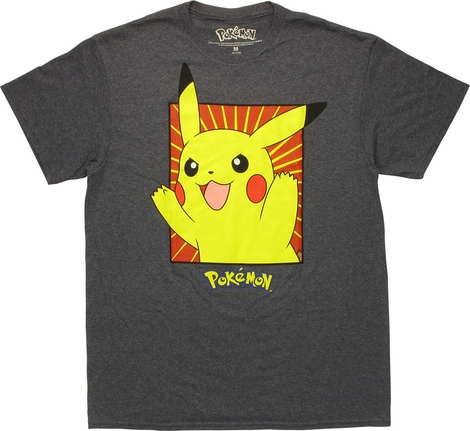 Pokemon Pikachu Framed T-Shirt