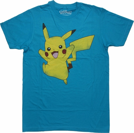 Pokemon Pikachu Jump T Shirt Sheer