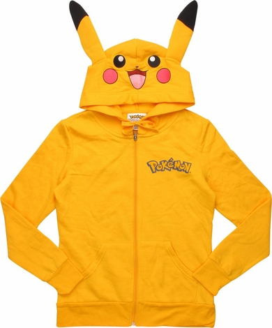 Pokemon Pikachu Suit Zip Junior Hoodie