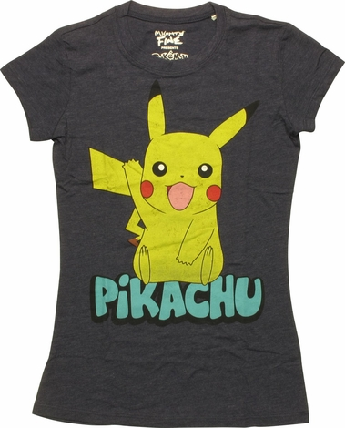 Pokemon Pikachu Wave Juniors T-Shirt