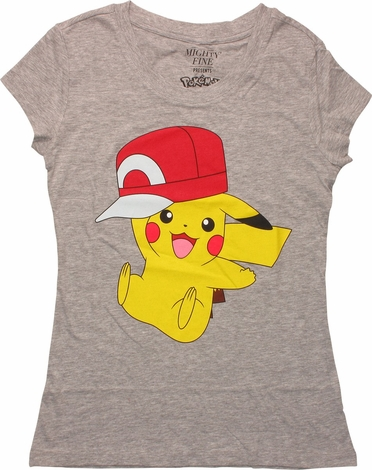 Pokemon Pikachu Wearing Hat MF Juniors T-Shirt