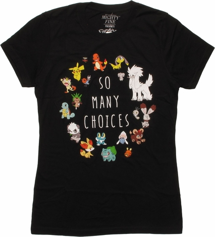 Pokemon So Many Choices MF Juniors T-Shirt