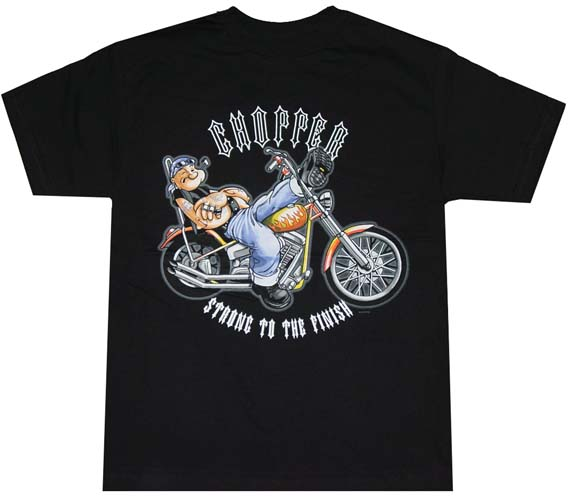 popeye chopper t shirt. Black Bedroom Furniture Sets. Home Design Ideas