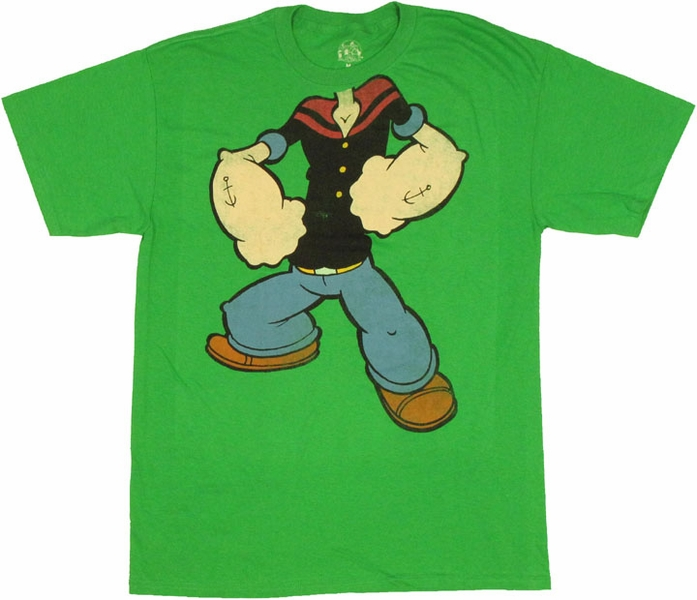 popeye costume t shirt. Black Bedroom Furniture Sets. Home Design Ideas