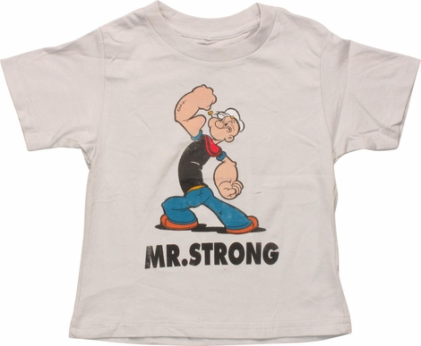 Popeye Mr. Strong Distressed Infant T-Shirt