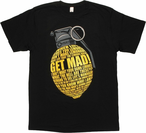 Portal 2 Lemon Grenade T Shirt Sheer